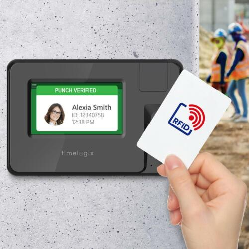 """TIMELOGIX TL50 Smart Card RFID Time Clock 4.3 """" TouchScreen Wifi & PoE"""