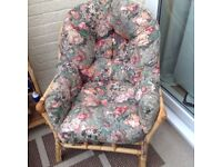 One conservatory chair with padded cushions in good condition £10