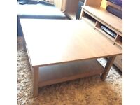 Ikea Hemnes large square coffee table grey / brown wash