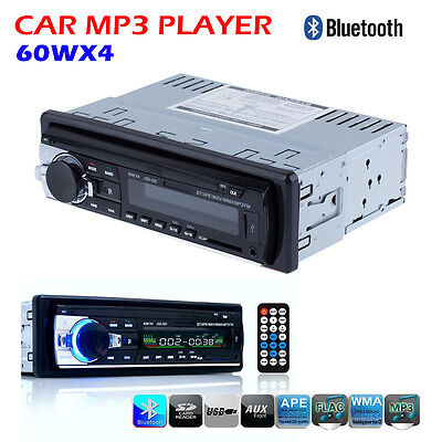 Car Audio Bluetooth Car Radio 1 DIN In Dash 12V SD/USB IPOD Input FM Stereo US