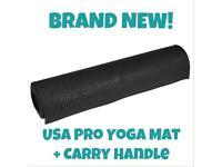USA PRO YOGA PILATES WORKOUT EXERCISE GYM MAT + CARRY HANDLE