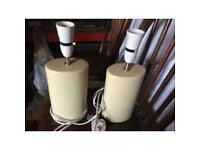 2cream ceramic table lamps