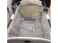 Travel cot, with baby change, mobile, light, music