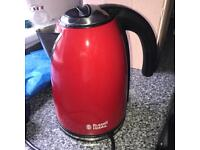 Red Kettle and Toaster Russell Hobbs
