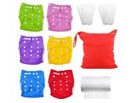 Juicy Bumbles Reusable Nappies New Nappies+liners+inserts+nappy bag