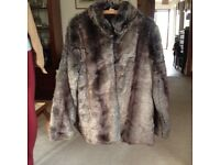Faux Fur cotton trader coat, brand new never been used