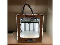 Barely used Ultimaker 2 (3D Printer), in original packaging w/assorted filament