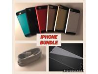 Iphone Bundle! (Card Holder Case, Cable + Screen Protector)