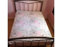Double bed frame and mattress (optional)