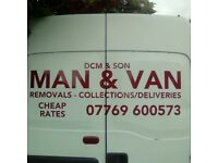 MAN & BIG VAN AT SHORT NOTICE/FULL N PART REMOVALS/SINGLE ITEMS MOVED/CHEAP RATES/ALL AREAS COVERED