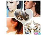 Silver Earrings by Ka-vivá for Royal Ascot 23 ct gold plated + box