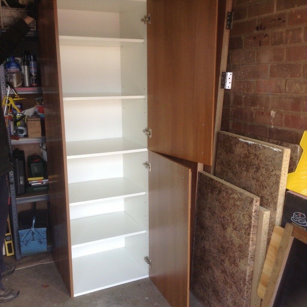 B&Q Sandford Larder Unit with shelf pack and handles | in Stockton ...