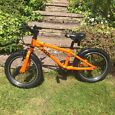 "KIDS FROG 48 BIKE ORANGE 16"" WHEELS , IMMACULATE CONDITION SPARE HYBRID TYRES-  ONLY A YEAR OLD."