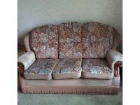 Free - 3 seater sofa pink dralon