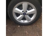 2006 Ford focus alloys with good tyres