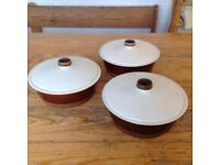 POOLE POTTERY SERVING/ CASSEROLE DISHES.