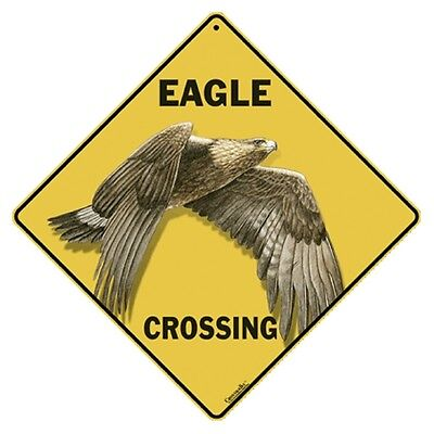 Golden Eagle Crossing Sign NEW 12X12 Metal Bird