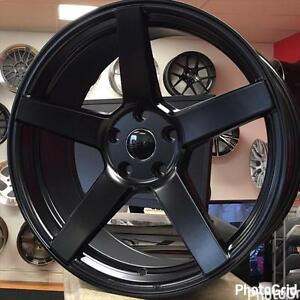 @905 673 2828 19x9 5x114.3 +40 CONCAVE Satin Black Rim Rims Wheels Honda Accord Mazda 3 Hyundai (4New wheels $699 CASH