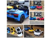 Audi R8 In White, Yellow,Red,Blue, 12v, Parental Remote & Self Drive,