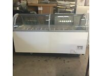 ICE CREAM DISPLAY CABINET, AS GOOD AS NEW, 6 MONTHS OLD USED FOR ONLY TWO £900