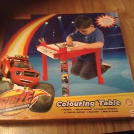 BRAND NEW Blaze monster machine colouring table