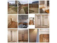 team of carpenters(kitchen fitting, mdf wardrobes, door fitting ,laminate hardwood flooring etc)