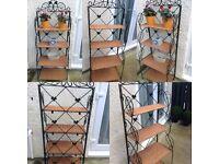 shabby chic metal 4 teir folding display shelf stand organiser rack plant shop display stand (24)