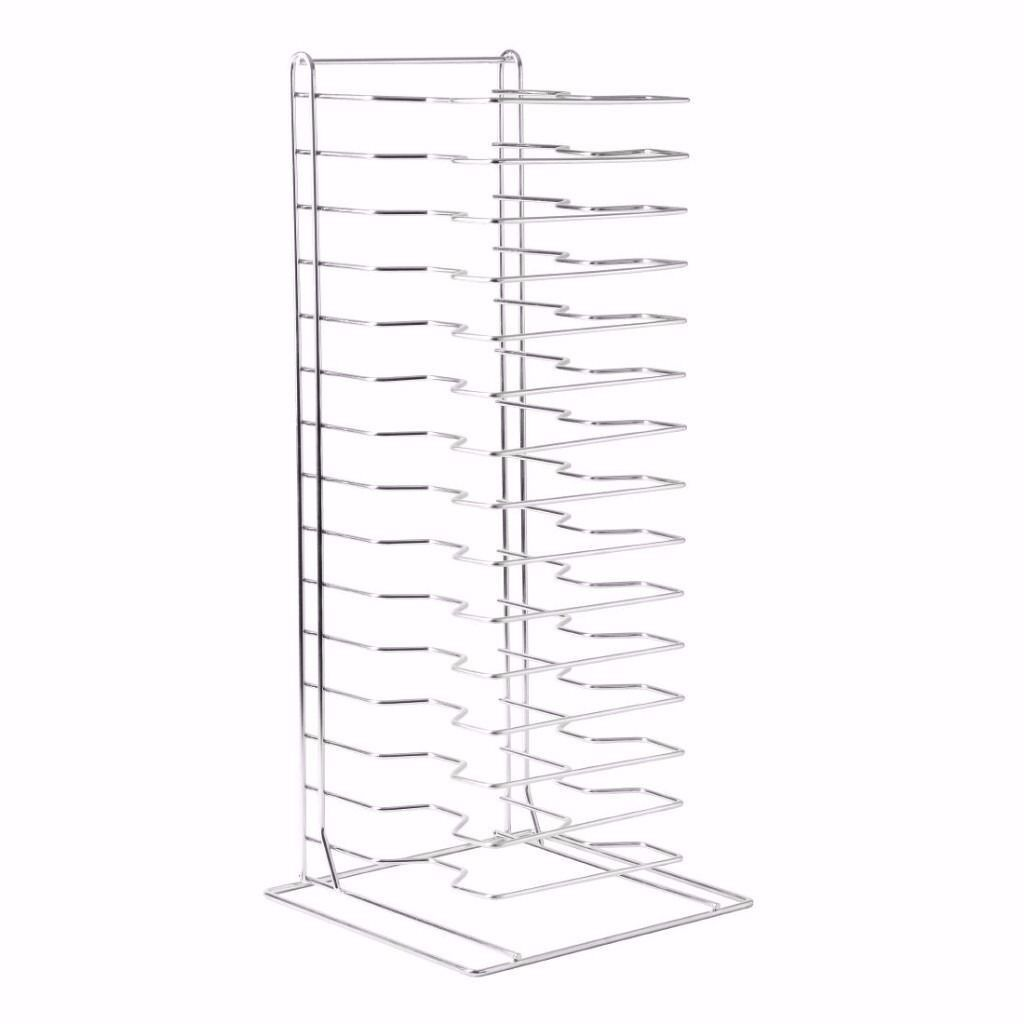 """Pizza Pans Stacking Rack 15 Slotin Manor Park, LondonGumtree - Pizza Pans Stacking Rack 15 Slot Ideal for storing all your pizza equipment together. Rack containing 15 slots. Product features Dimensions 705(H) x 300(W) x 300 (D)mm 15 slot with 1.5"""" between shelves. Keep all your pizza equipment in one place...."""