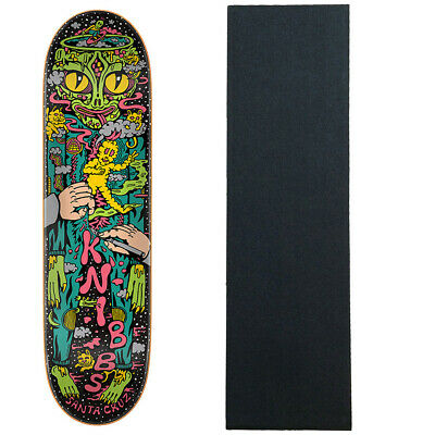 "Santa Cruz Skateboard Deck Knibbs Reptilian 8.375"" with Mob Griptape"