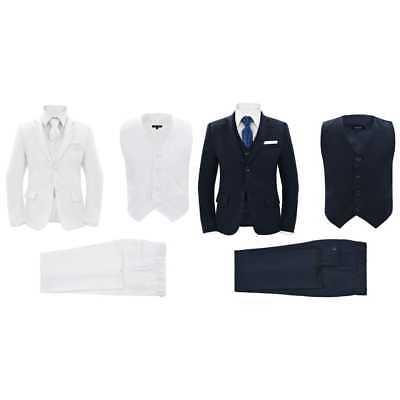 vidaXL Jungen Anzug 3-tlg. Kommunionsanzug Smoking Kinderanzug mehrere Auswahl