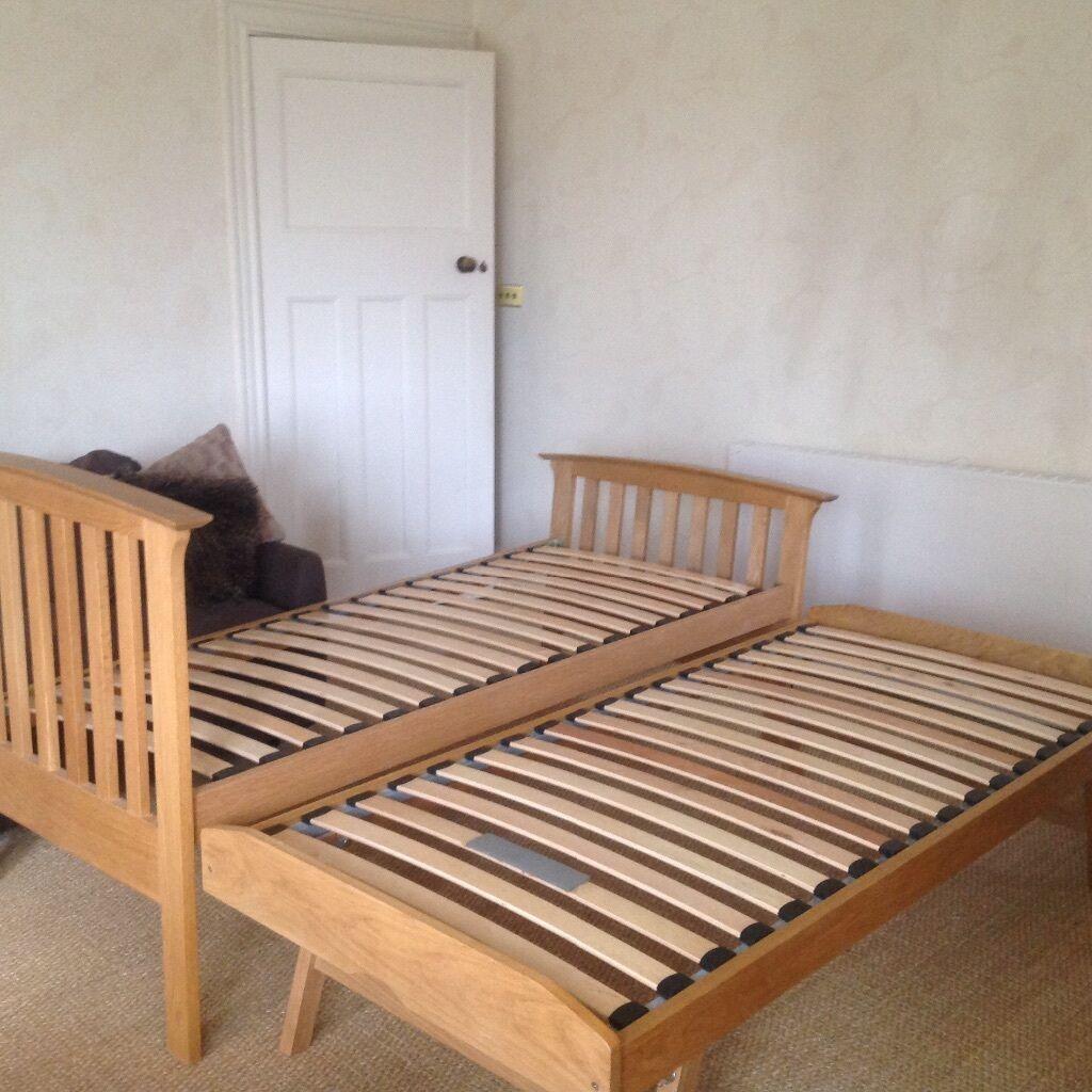 Marks Spencer Bedroom Furniture Marks And Spencer Solid Antique Pine Single Bed With Trundle Bed