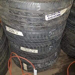 Two tires size 215 60 15 for sale