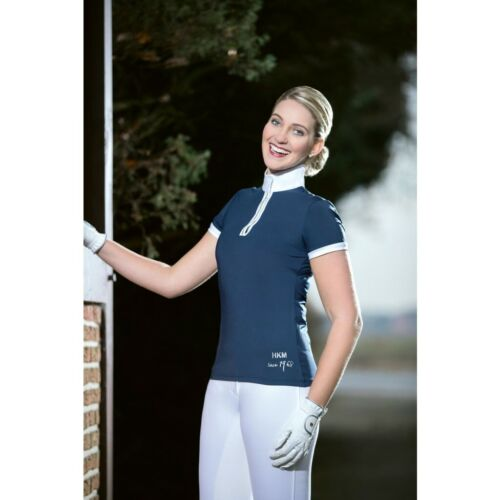 HKM Crystal Competition Show Shirt - Short Sleeve - White or Navy