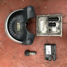 Smart Fortwo Cabrio Convertible Key Lock Set