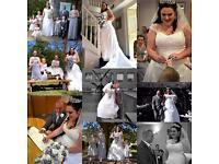 Ivory wedding dress size 24