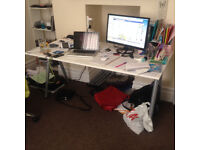 White IKEA Desks - 2 Available - DISCOUNT FOR TAKING BOTH!!
