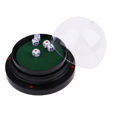 Fun Casino Games For Parties (Black Plastic Electric Dice Cup with 5pcs Dice for Gambling Party Game)