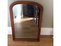 Antique mahogany mirror