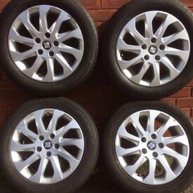 Genuine Seat Leon 16 inch alloy wheels & Tyres suit vw Golf Caddy Audi A3 alloys rims Exeo 10 spoke