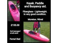 Kayak paddle & buoyancy aid