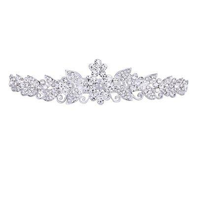 Bride Bridesmaids Wedding Party Tiara Rhinestone Crown Comb Pin F5R0