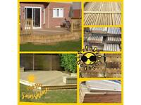 2.4mtr pressure treated decking £4.50