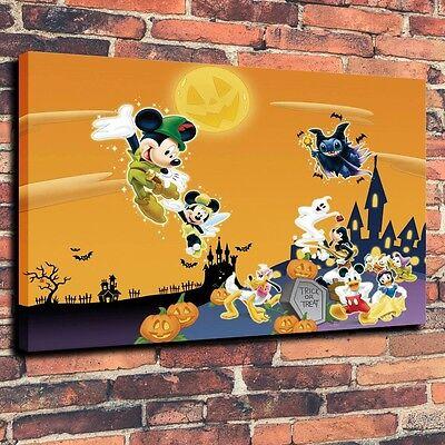 Art CANVAS PRINT disney halloween happy holiday  cartoon Wall Decor,12x16](Disney Halloween Art)