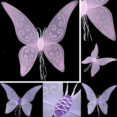 rple Pink Butterfly Angel Fairy Wings Party Cosplay Props (Cosplay Fairy Wings)
