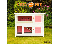 4ft Rabbit Hutch Pink. As new. Collection Scarborough. pen hutch guinea pig etc
