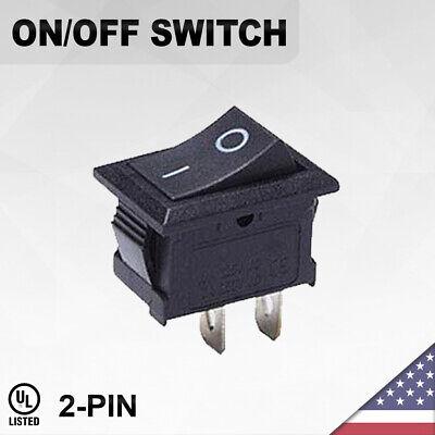 Heavy Duty Onoff Switch 2-pin Toggle Rocker Push Button Led Car Spst
