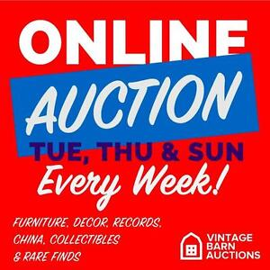 ONLINE AUCTION!  vintage decor, comics, bank notes, rare finds, collectibles, tools, sports gear