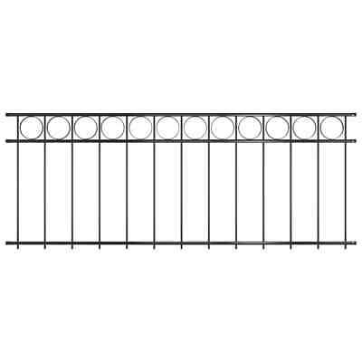 vidaXL Fence Panel Steel 1.96x0.8m Black Outdoor Garden Barrier Partition