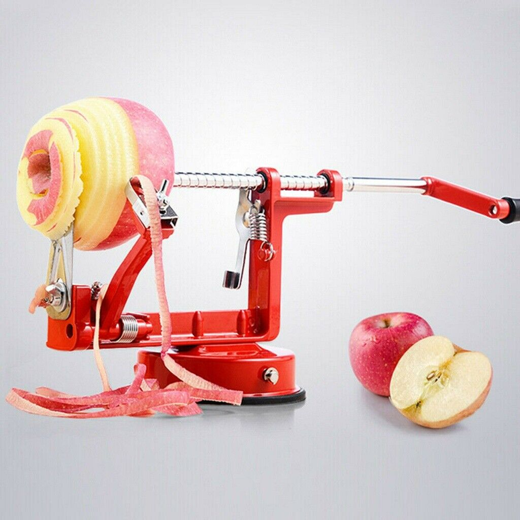 3in1 Apfelschäler Apfelentkerner Apfelschneider Apfelschälmaschine Obst