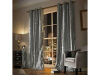 Kylie Minogue - Iliana Ready Made Eyelet Curtains Silver